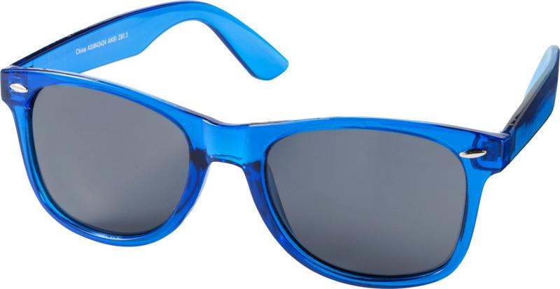 Gafas sol montura transparente . Regalos promocionales y reclamos publicitarios
