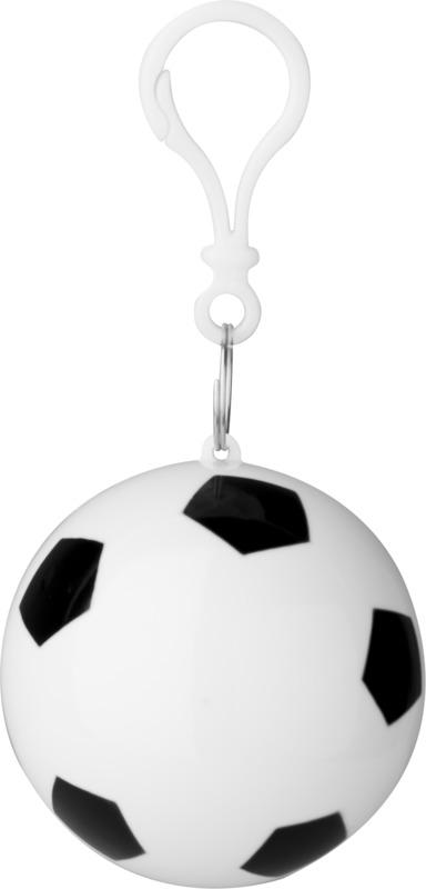 Poncho impermeable/ balón fútbol . Regalos promocionales y reclamos publicitarios