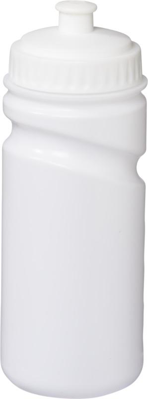 Botella deporte cuerpo blanco . Regalos promocionales y reclamos publicitarios