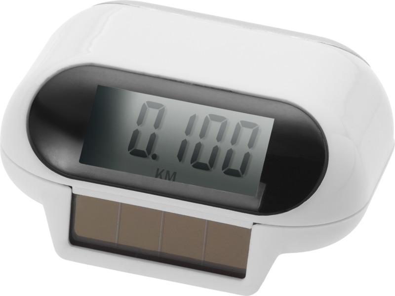 Podómetro solar . Regalos promocionales y reclamos publicitarios