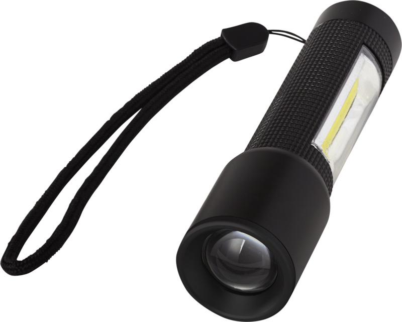 Linterna compacta luz lateral COB. Regalos promocionales y reclamos publicitarios