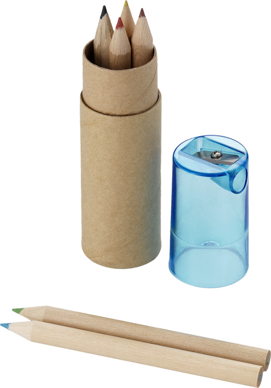 Set 6 lápices/ sacapuntas. Regalos promocionales y reclamos publicitarios