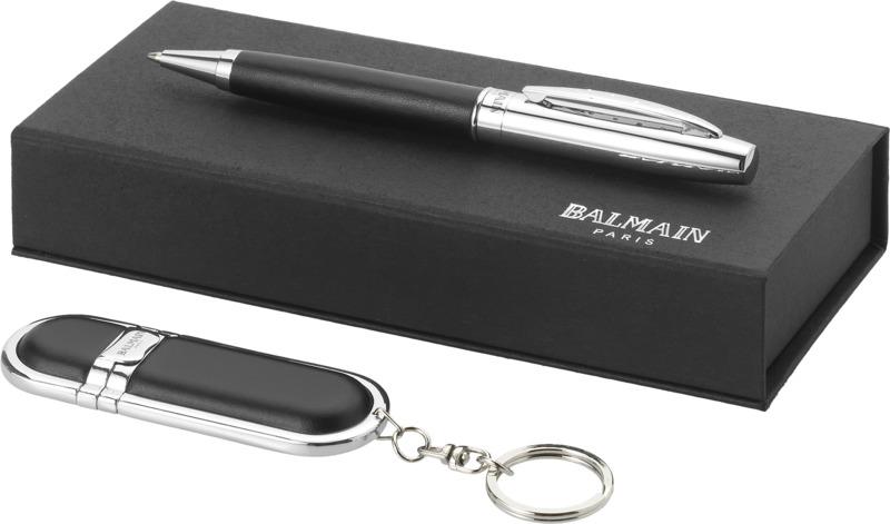 Set bolígrafo/ llavero. Regalos promocionales y reclamos publicitarios