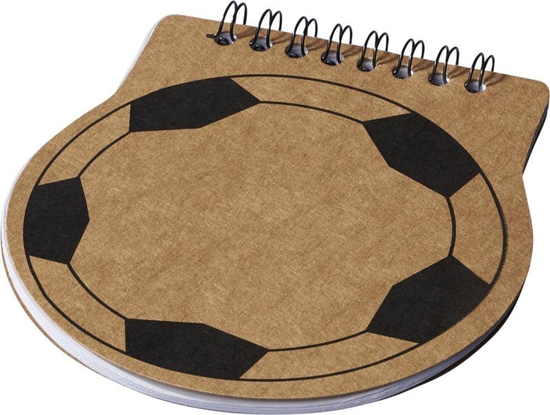 Libreta balón fútbol. Regalos promocionales y reclamos publicitarios