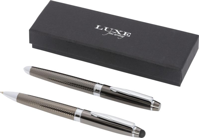 Set de bolígrafo  stylus/ rollerball. Regalos promocionales y reclamos publicitarios