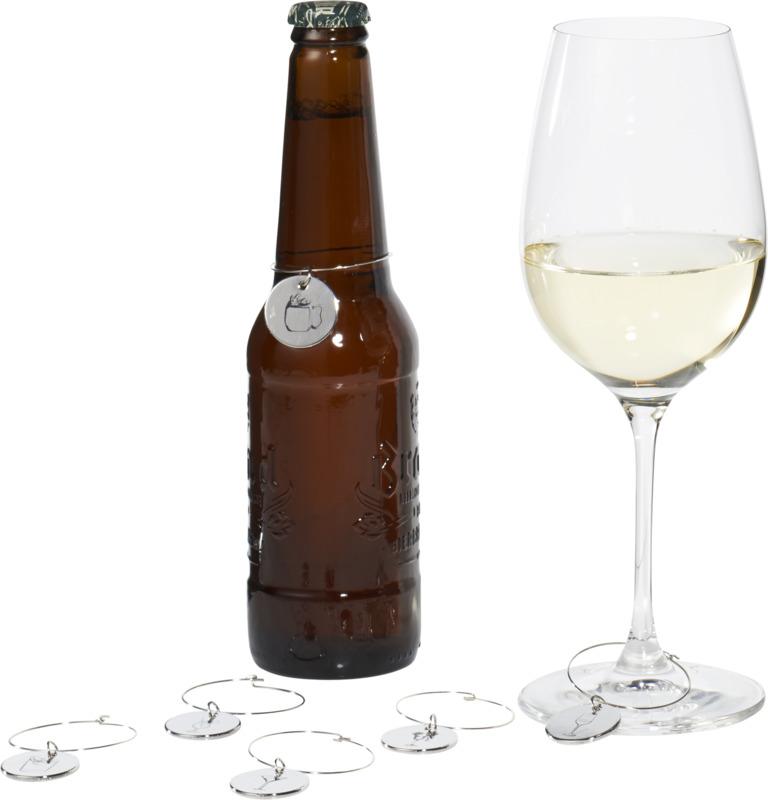 Identificadores bebida . Regalos promocionales y reclamos publicitarios
