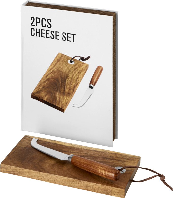 Set regalo queso 2 piezas. Regalos promocionales y reclamos publicitarios
