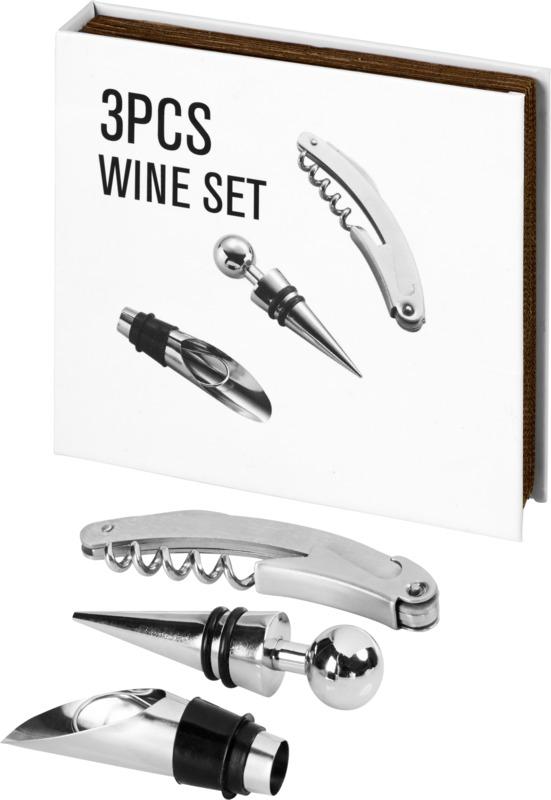 Set vino 3 piezas. Regalos promocionales y reclamos publicitarios