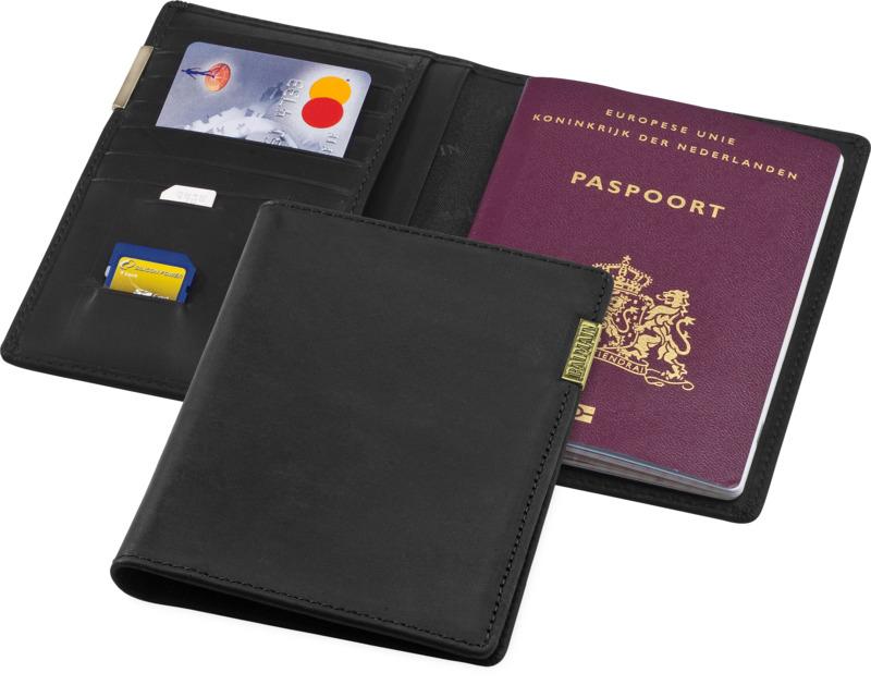 Cartera pasaporte. Regalos promocionales y reclamos publicitarios