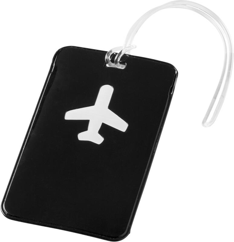 Etiqueta equipaje . Regalos promocionales y reclamos publicitarios