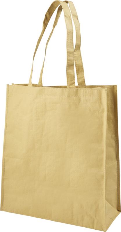 Bolsa papel tejida . Regalos promocionales y reclamos publicitarios