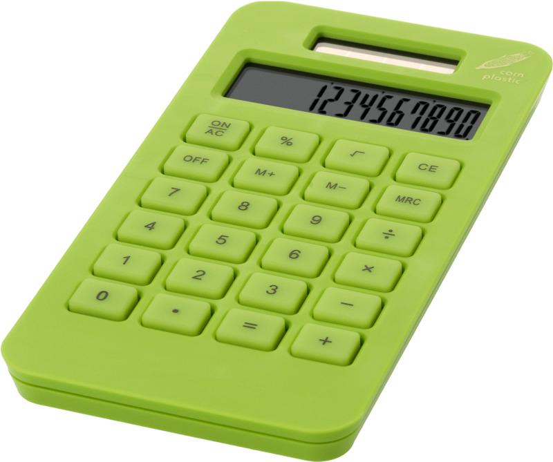 Calculadora bolsillo. Regalos promocionales y reclamos publicitarios
