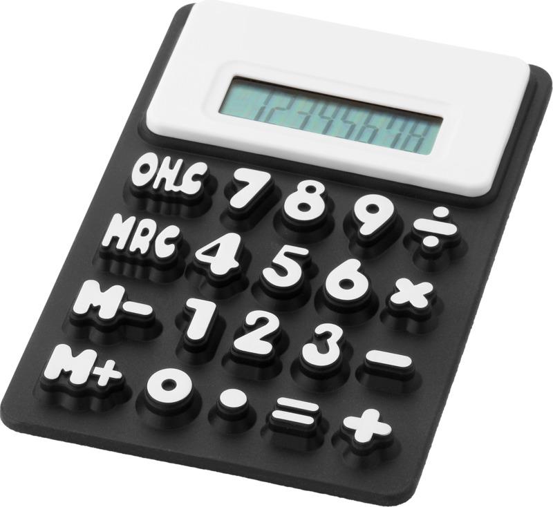Calculadora flexible. Regalos promocionales y reclamos publicitarios