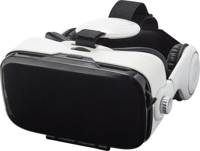 Gafas realidad virtual auriculares. Regalos promocionales y reclamos publicitarios