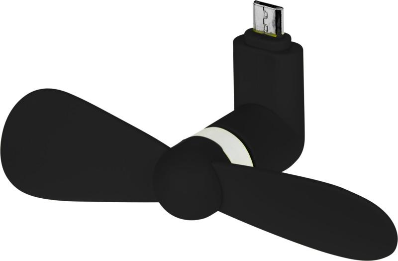 Ventilador micro USB. Regalos promocionales y reclamos publicitarios