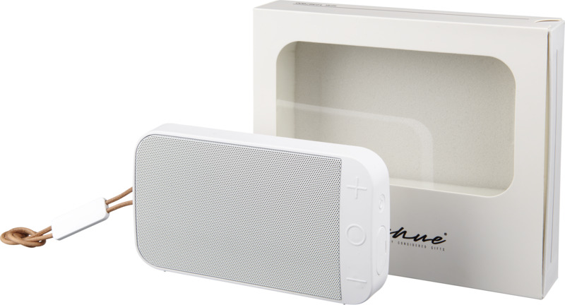 Altavoz Bluetooth tela  soporte. Regalos promocionales y reclamos publicitarios