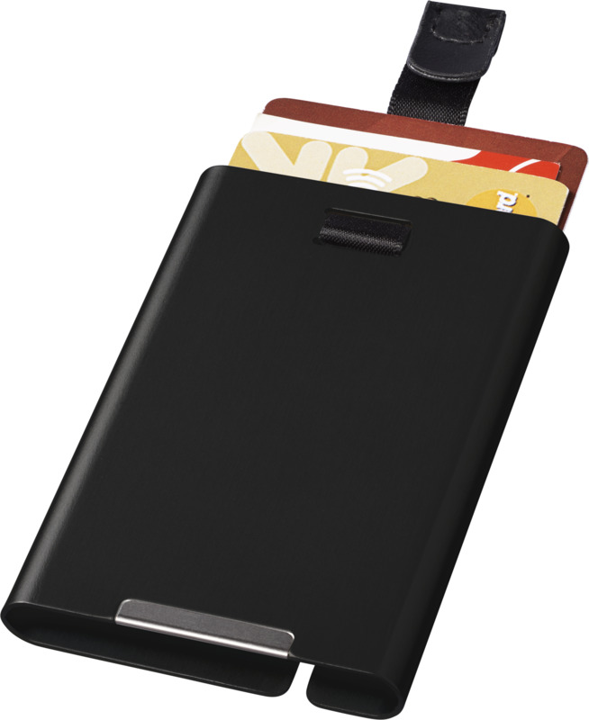 Tarjetero RFID . Regalos promocionales y reclamos publicitarios