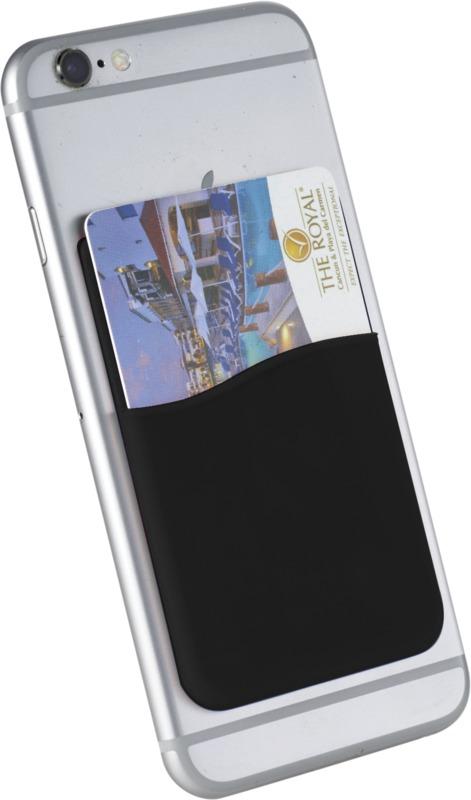 Portatarjetas silicona . Regalos promocionales y reclamos publicitarios