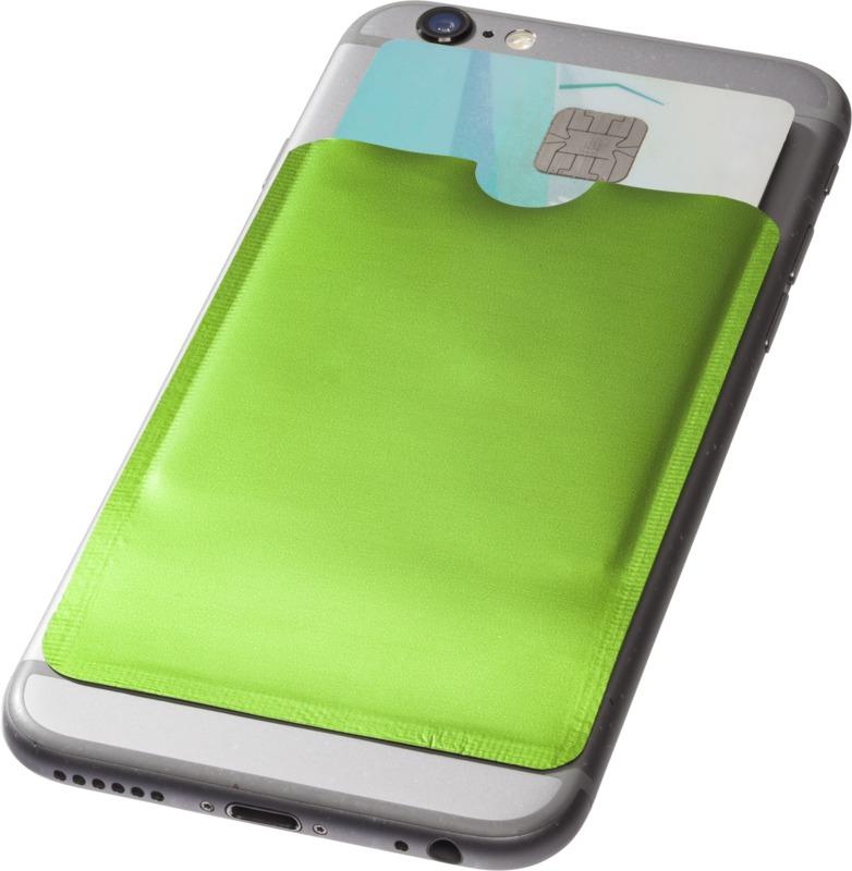 Portatarjetas smartphone protección RFID. Regalos promocionales y reclamos publicitarios