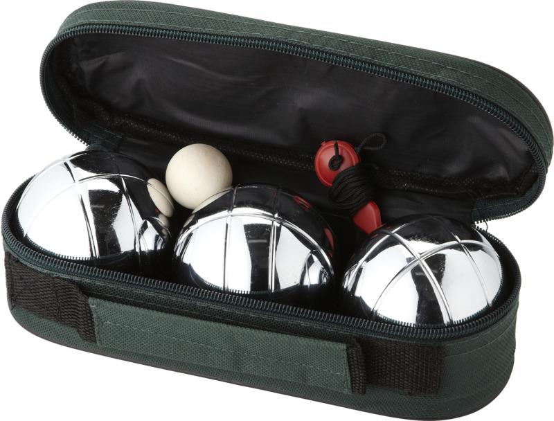 Juego petanca 3 bolas. Regalos promocionales y reclamos publicitarios