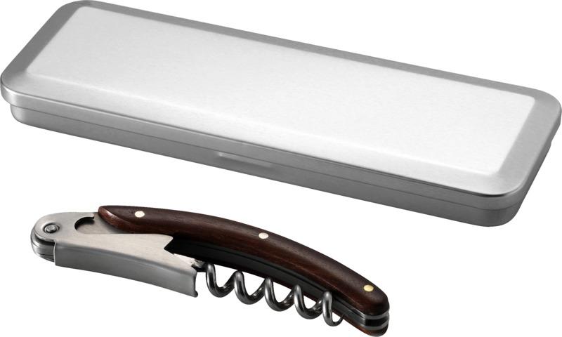 Sacacorchos cuchilla . Regalos promocionales y reclamos publicitarios