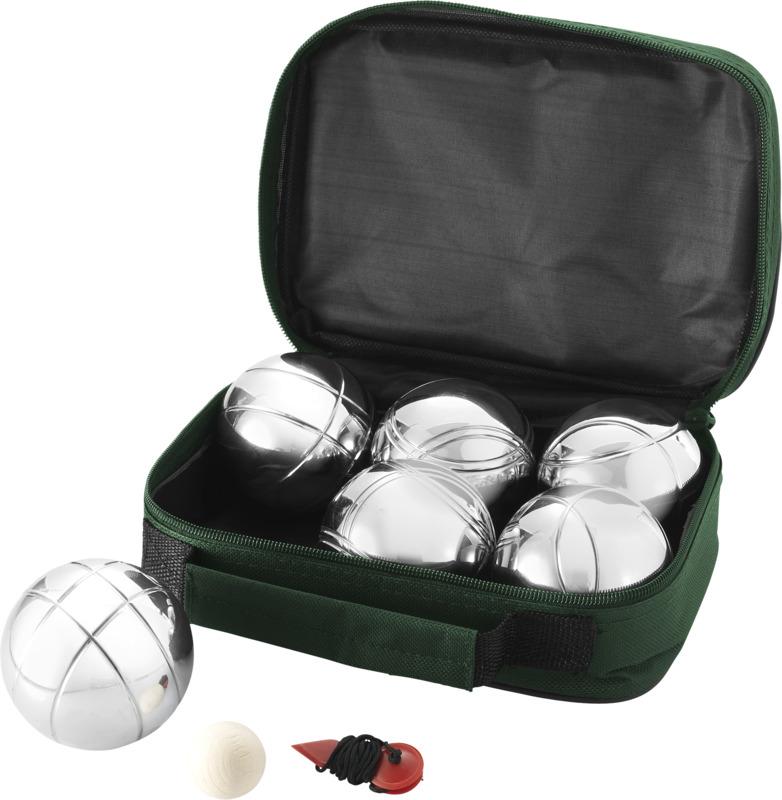 Juego petanca 6 bolas. Regalos promocionales y reclamos publicitarios
