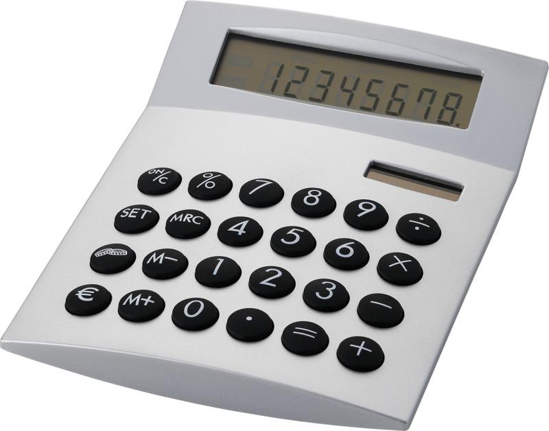 Calculadora sobremesa. Regalos promocionales y reclamos publicitarios