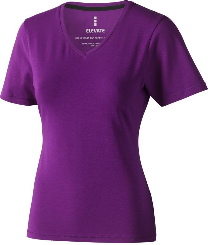 Camiseta pico mujer_38. Regalos promocionales y reclamos publicitarios